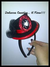 ☠ Mini Cappello per Halloween: cammeo con ragno!