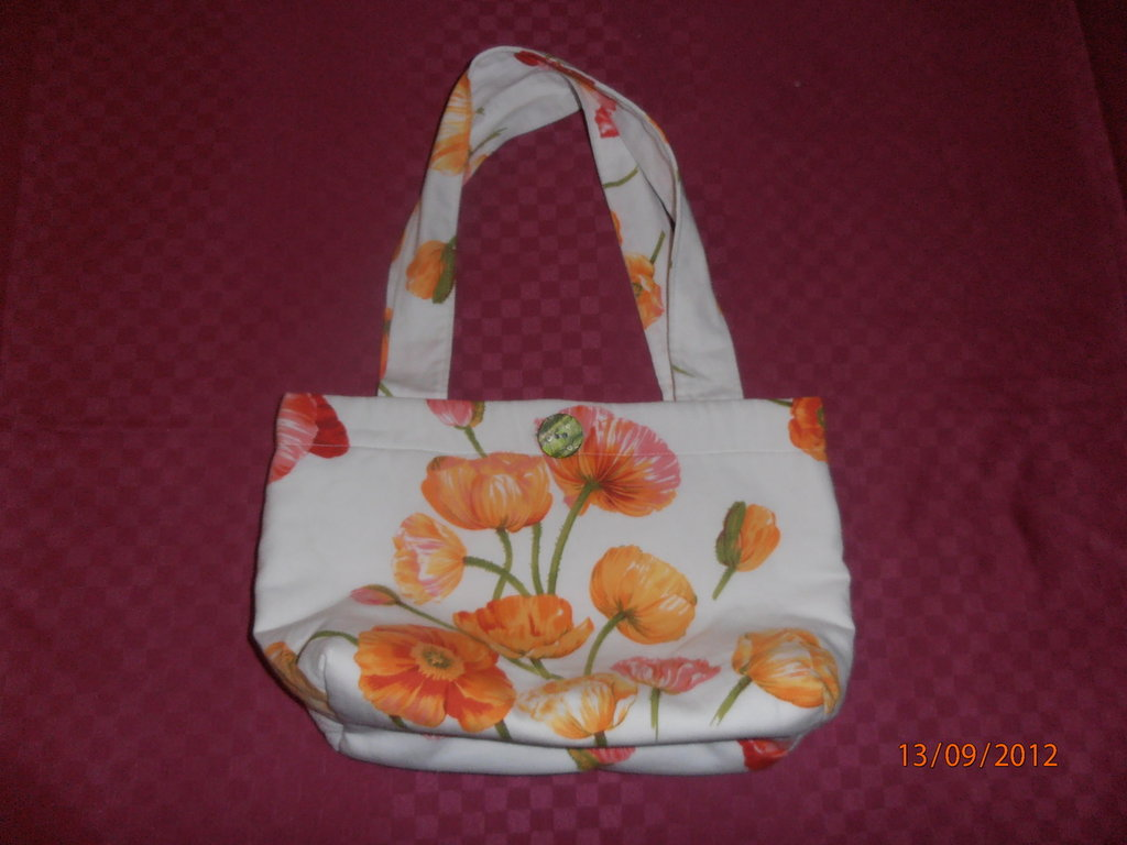 B4 Borsa in tessuto fantasia floreale----flower fancy handbag