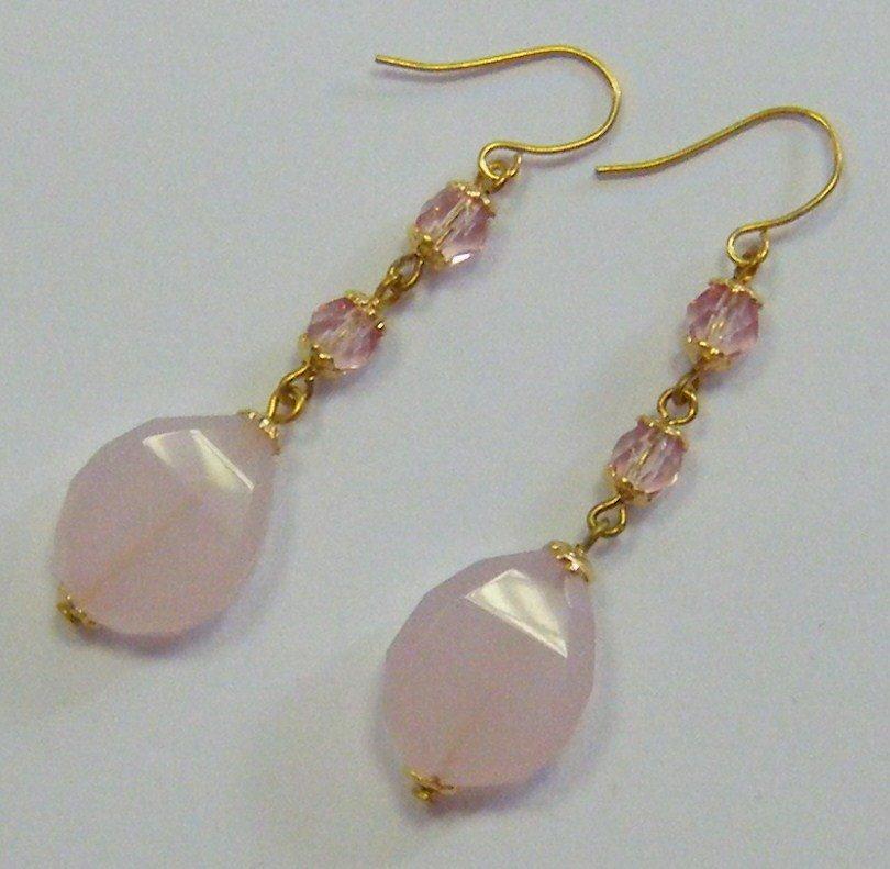 orecchini con pietre dure e mezzo cristallo