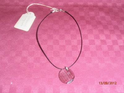 C11 Collana con ciondolo Swarovsky sfaccettato----Swarovsky necklace