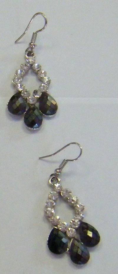 orecchini con metallo anallergico e strass