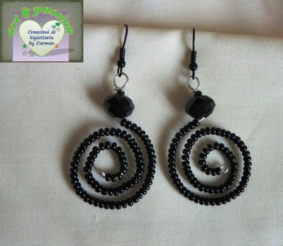 "orecchini ""spiralidosi"""