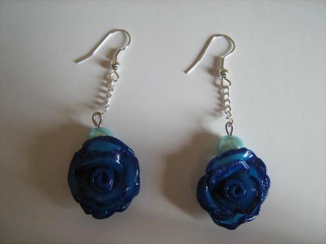 orecchini rose blu