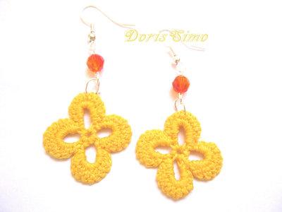 orecchini giallo arancio