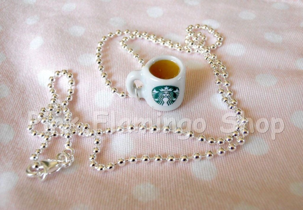 Collana caffè Starbucks - miniature kawaii