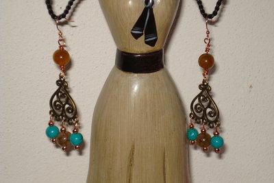 orecchini turchese e agata