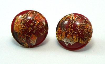 Orecchini a clip composti da pietra colorata