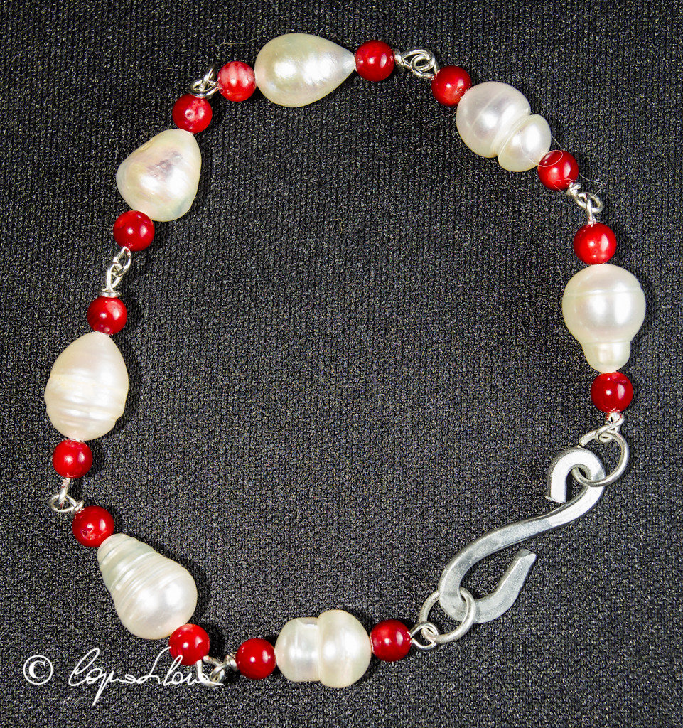 Bracciale perle e pietre dure