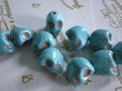 10 Piccole Perline Teschi Pietra Sintetica