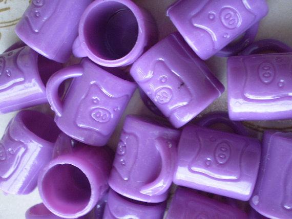 12 Mini Tazzine con Maialino VIOLA