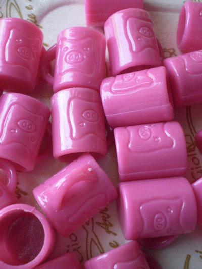 12 Mini Tazzine con Maialino FUCSIA