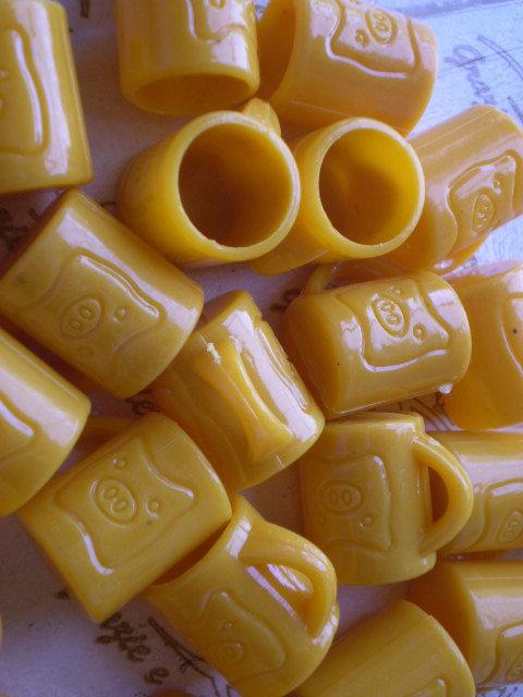 12 Mini Tazzine con Maialino ARANCIONE