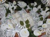 fiori scatole ad uncinetto per confettate
