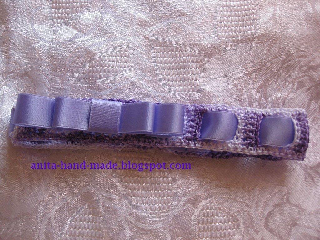 Fascetta in 100% cotone con fiocco in raso