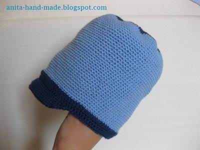 Cappellino da maschietto in 100% lana merino irrestringibile