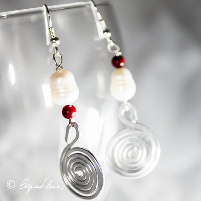 Orecchini perle e pietre dure