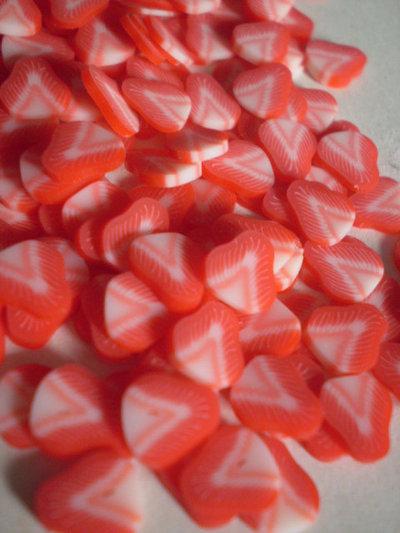 130 Fettine Fragola da Polymer Clay Canes