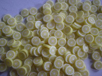 130 Fettine Limone da Polymer Clay Canes