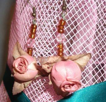 Orecchini Pendenti Steampunk rose