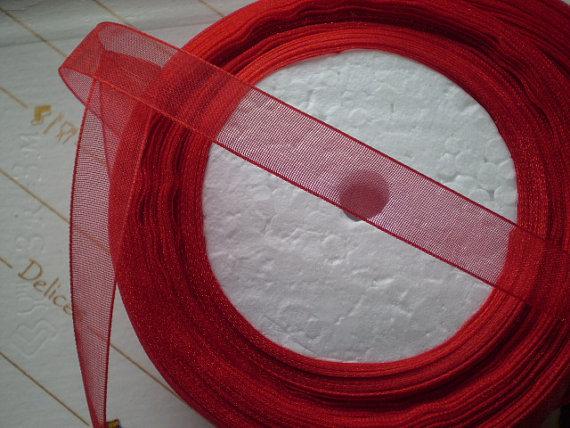 45 Metri Organza Rossa