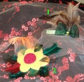 Mollette per capelli piume 2^^