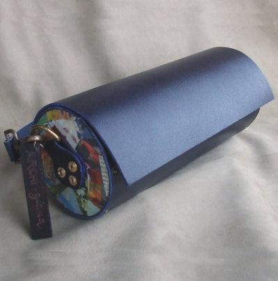 Cilindro deco blu