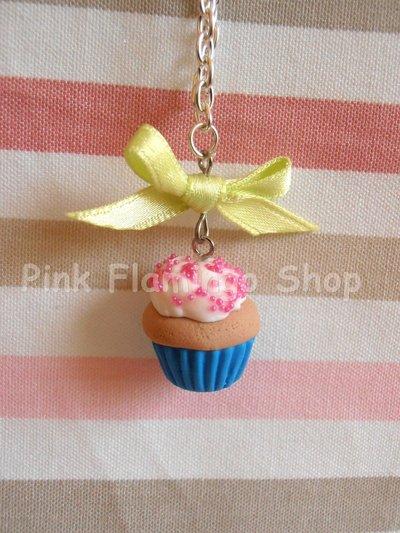 Collana cupcake e fiocco - in Fimo - kawaii