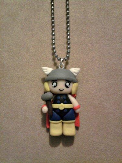 Collana con Thor fimo