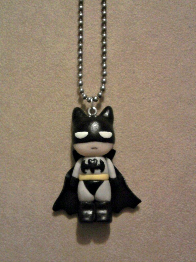 Collana con Batman fimo