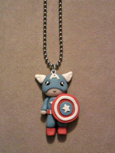 Collana con Captain America fimo