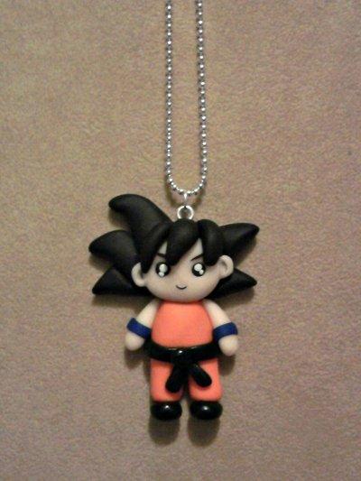 Collana con Goku fimo