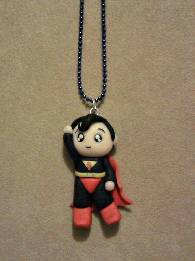 Collana con Superman fimo