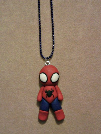 Collana con Spiderman fimo