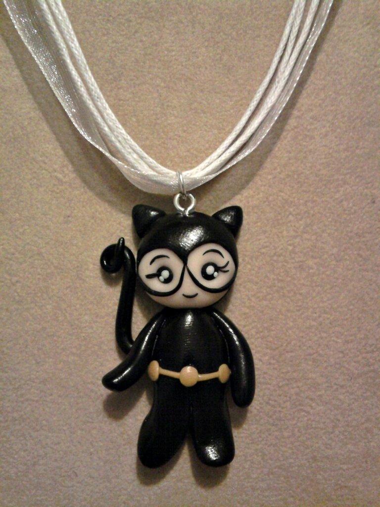 Collana Catwoman fimo