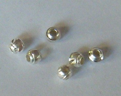 perline distanziatori in metallo colore argento