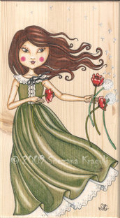 Breezy (on wood)-ORIGINAL