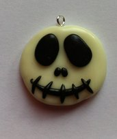 Ciondolo di Jack Skellington fluorescente / Glow in the dark Jack Skellington charm