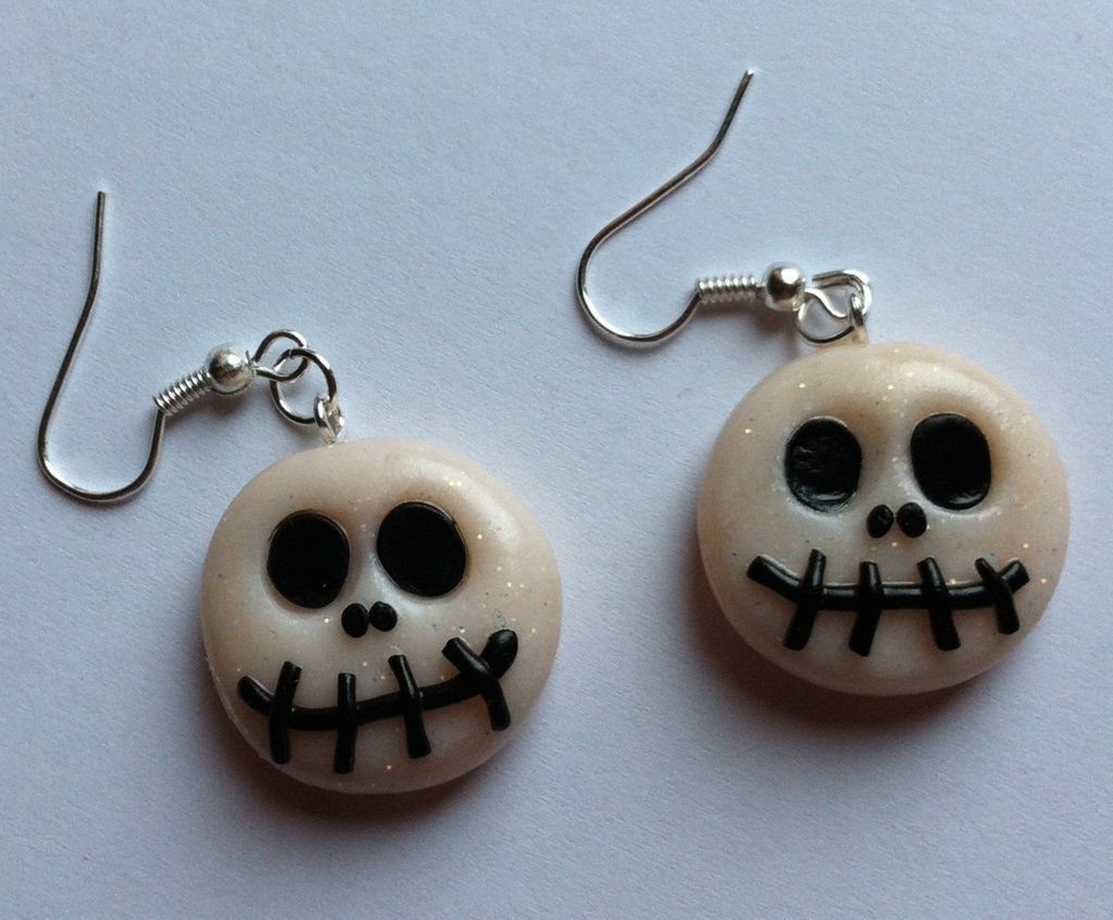 Orecchini di Jack Skellington per Halloween / Halloween Jack Skellington Earrings