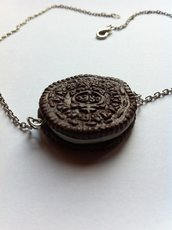 Collana Biscotto Oreo / Oreo Cookie Necklace