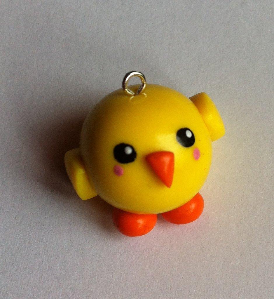 Ciondolo Pulcino in Fimo / Polymer Clay Chick Charm