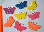 Farfalle in gomma crepla