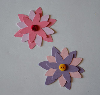 Fiori in cartoncino su misshobby for Fiori di cartoncino