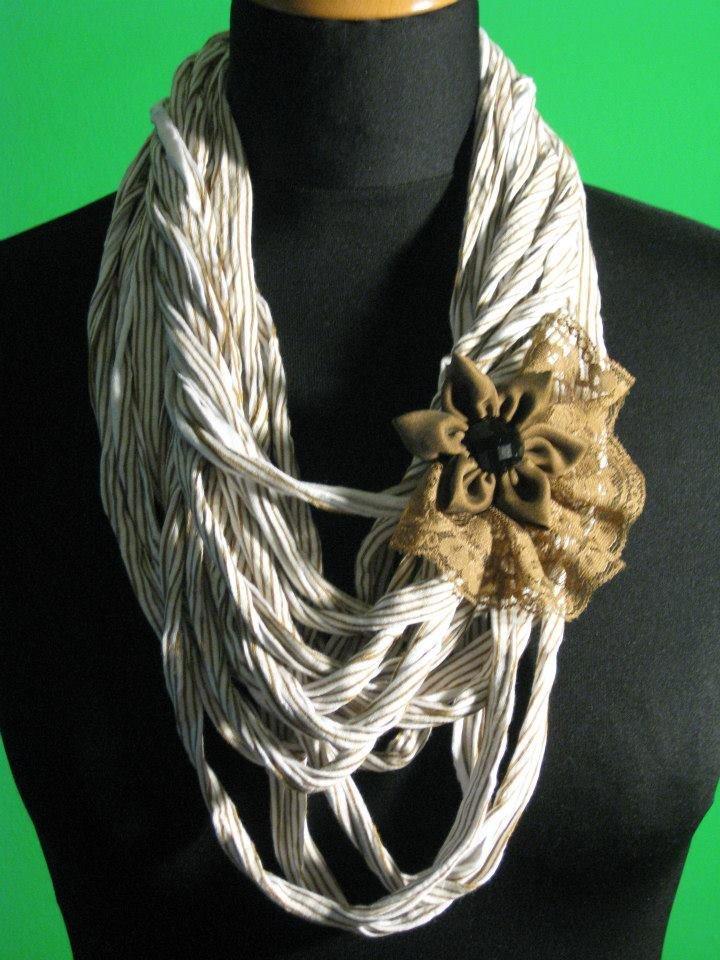Popolare Collana in fettuccia - Gioielli - Collane - di Lusilane   su MissHobby NS61