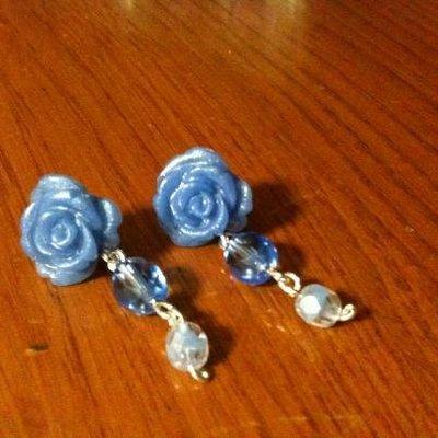 Orecchini rose cristallo