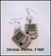 Orecchini Game Boy anni ottanta