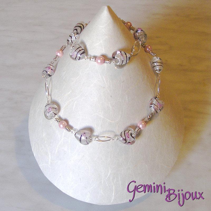 Collana cuori crystal-rose
