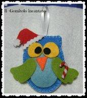 Gufetto Natale in pannolenci - Gufito