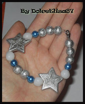 Braccialetto con stelle argentate