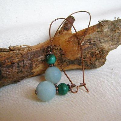 Malachite orecchini