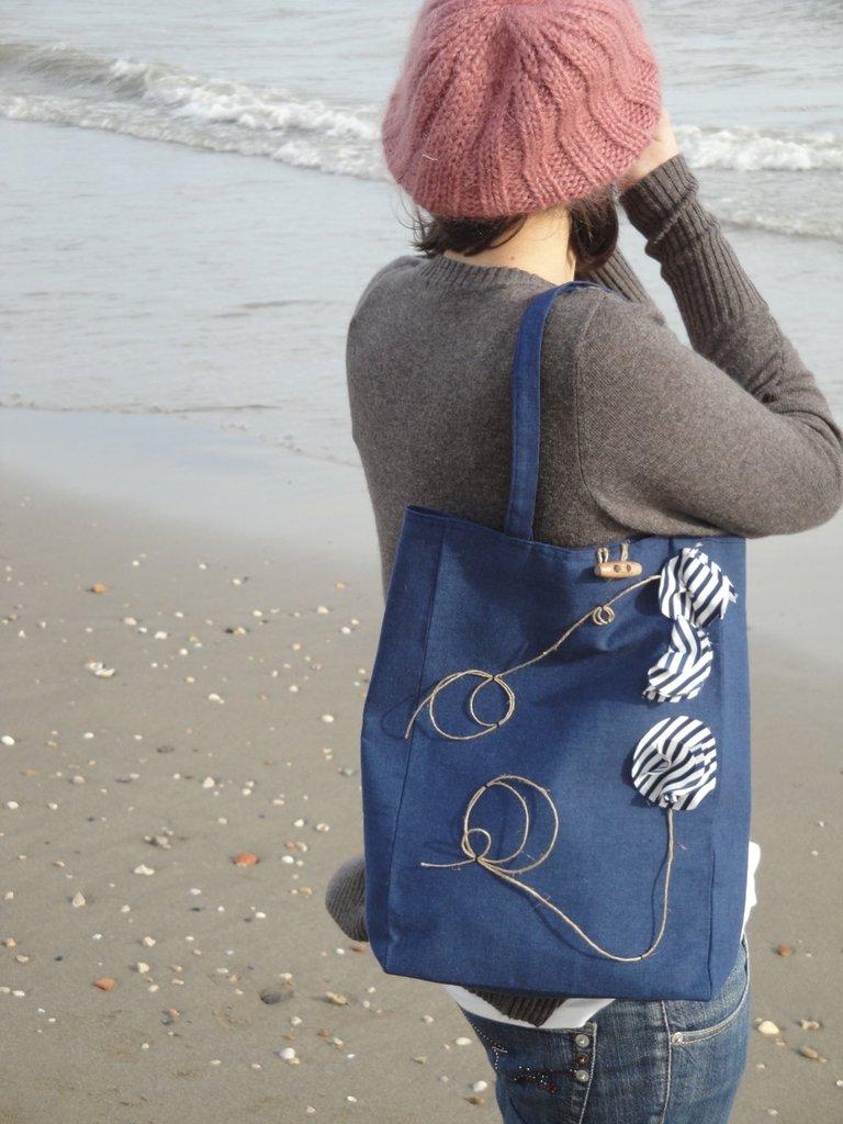 """""""Il mio mare in una borsa"""" blu handbag"""